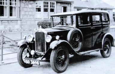 An old photo of the Humber when Bert first drove it.