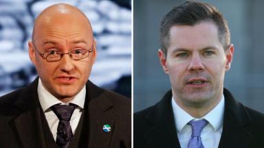 Agreement: Scottish Green co-convener Patrick Harvie (left) held talks with Derek Mackay in recent days.