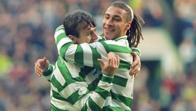 Henrik vs Lubo: The Celtic legends are back in Glasgow for next month's game.