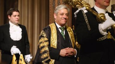 Speaker John Bercow received applause from some MPs in House of Commons when he first made his comments about Trump.