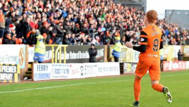 Simon Murray opened the scoring on Christmas Eve, the day Dundee United went top of the table.