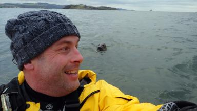 Alistair Forrest: Kayaker caught the seal on camera.