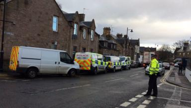 Southside Road: Police at the scene after the body was found.