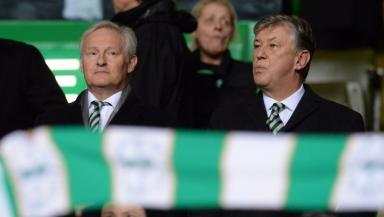 Battle: Peter Lawwell (right) is in a fight to preserve Celtic's European status.