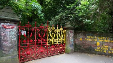 Fans of the Beatles still visit the site and write messages on the walls to the entrance.