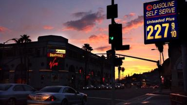 Sunset Boulevard in Hollywood