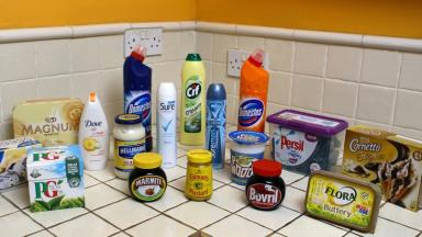 A selection of Unilever goods