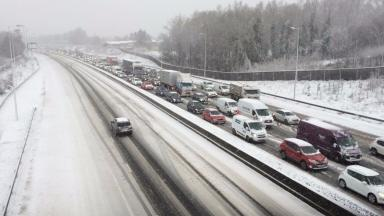 Doris: Snowy storm caused chaos for motorists in February.
