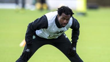 Efe Ambrose: The defender is back in training at Lennoxtown.
