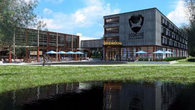 Ohio: Artist's impression of new hotel development.