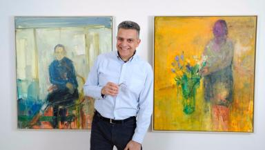 Henry Jabbour quit his job of 20 years to pursue his art.