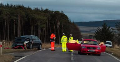 Collision: Woman dies in crash on the A96 in Moray.