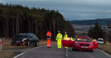 Crash: One fatality in the A96 collision.