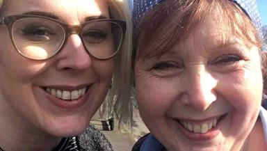 Bucket list: Angie Longmate and her daughter Georgina Muirhead.