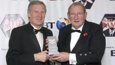 Legends: McNeill being inducted into the hall of fame with team mate Tommy Gemmell.