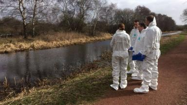 Forensic teams began searching Monklands Canal.