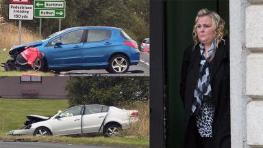Fatal: Strachan caused the head-on crash.