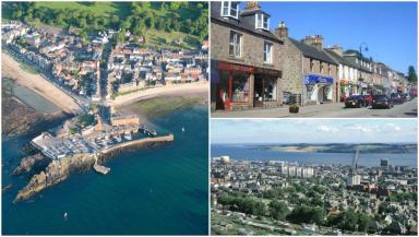 Clockwise from left: North Berwick, Banchory and Dundee.