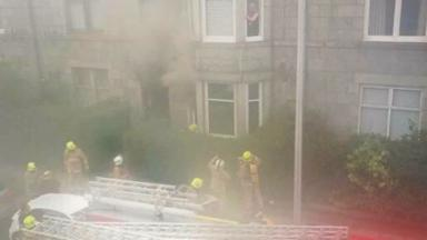 Albyn Grove: Residents stuck in flats given fire survival guidance.