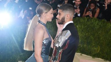 The singer is dating model Gigi Hadid.