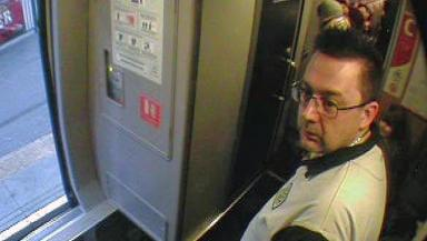 CCTV: Transport police are hunting man seen on Edinburgh to Peterborough train.