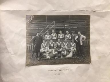 Sandy's father played for Dunblane Wednesday FC in 1913.
