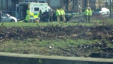 Ashfield Street: Emergency services scrambled to collision in the north of the city on Monday.
