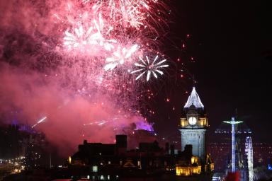 Edinburgh's Hogmanay: Party will feature an extended fireworks display  (file pic).