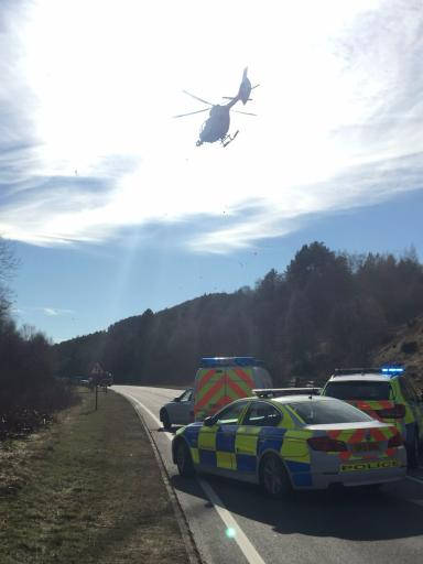 Helicopter: STV News understands one person was airlifted from the scene.