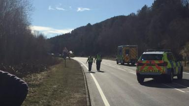 Collision: Police have put diversions in place on the A9
