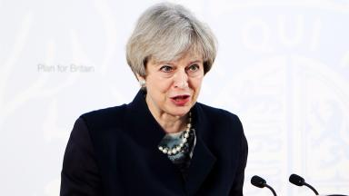 Theresa May: The PM is in Sweden for crunch EU talks.