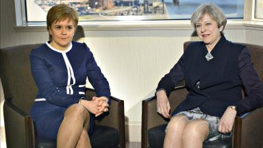 Meeting: Nicola Sturgeon (left) has not met Theresa May since March.
