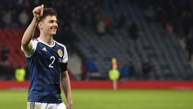 Kieran Tierney won his third cap against Slovenia.