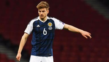 Stuart Armstrong won his first cap for Scotland against Slovenia.