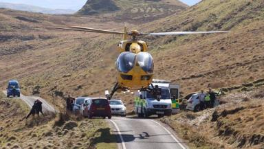 Kilchoan: Cyclist seriously injured in collision with sheep.