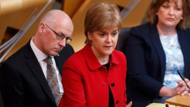 Mandate: Nicola Sturgeon appealed to MSPs to support her plans.