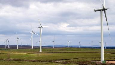 Whitelee: The man died at East Renfrewshire wind farm (file pic).