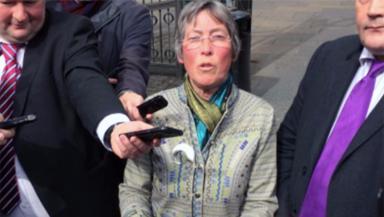 Rohan Beyts: Speaking outside Edinburgh Sheriff Court on Wednesday.