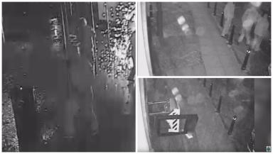 CCTV: Men used gas to cause explosions in ATMs.