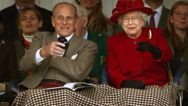 Royals: Queen and Duke of Edinburgh at Braemar Gathering.