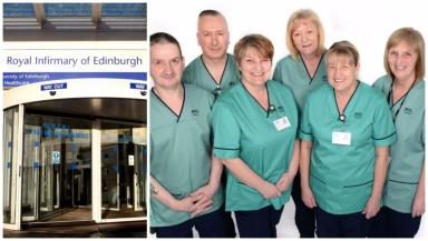 NHS: New green uniforms issued to staff.
