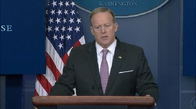 White House press secretary Sean Spicer said the US 'take the fight against Isis very seriously'.