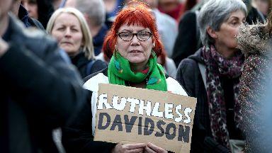 Protest: Scottish Tory leader under increasing pressure.