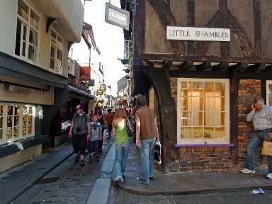 The Shambles in York has been named the prettiest street in Britain.