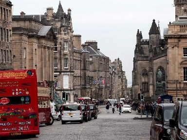 The Royal Mile in Edinburgh's Old Town came second in the survey.