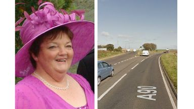Crash: Dorothy was involved at a collision on the A90