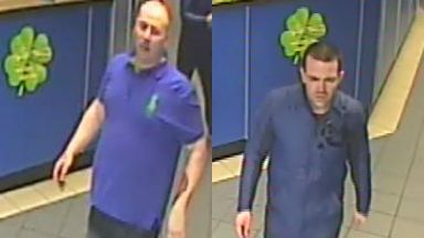 CCTV: Police are looking for the two men pictured.