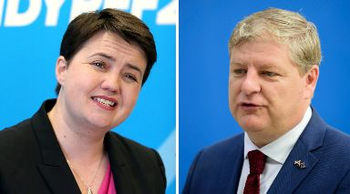 Election: Ruth Davidson has targeted Angus Robertson's seat.