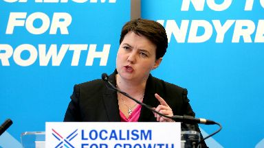 Ruth Davidson: The MSP has piled the pressure on Theresa May.