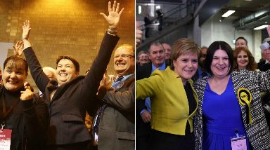 Elections: Davidson and Sturgeon react to results.